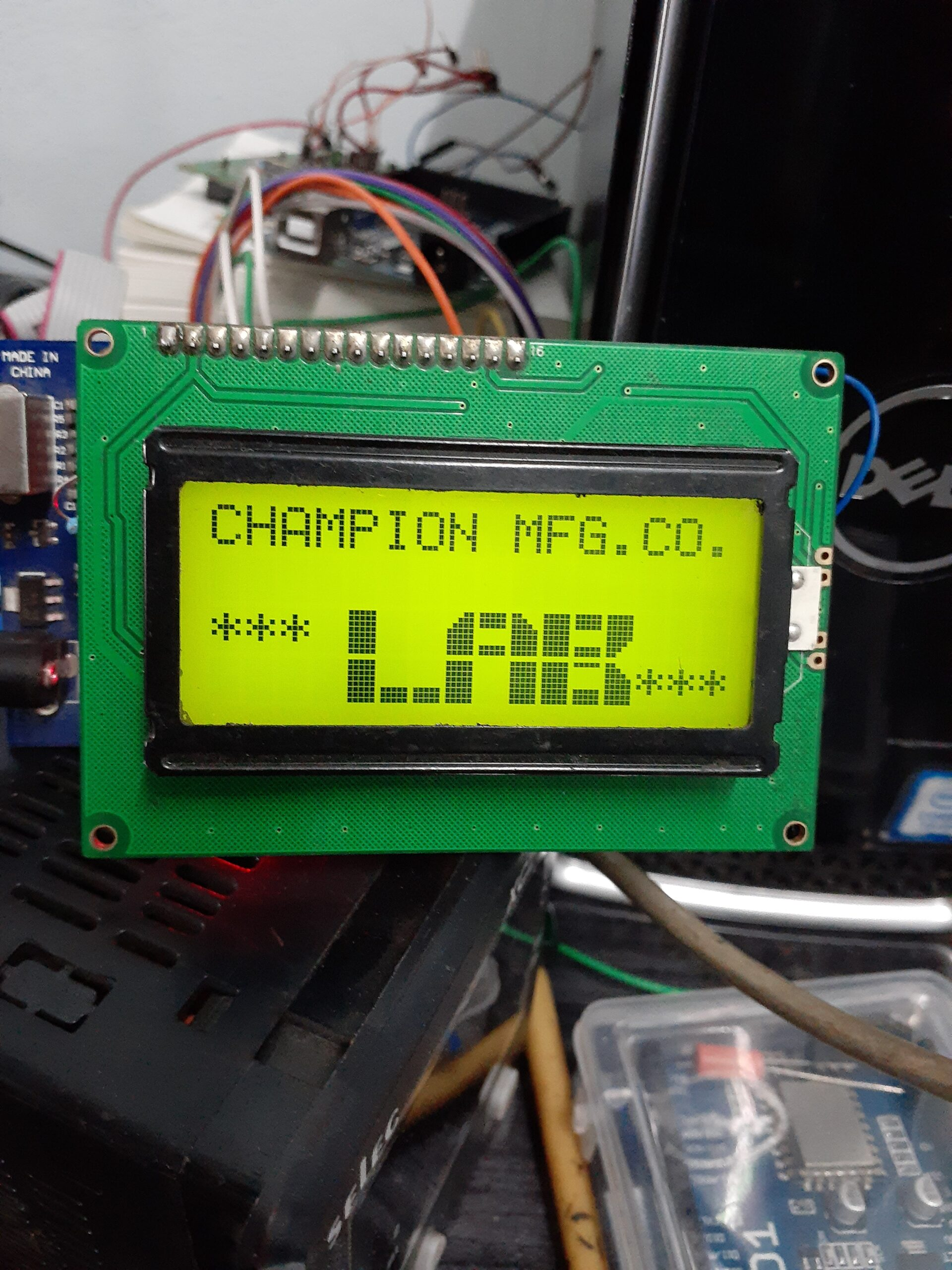 How to make  Arduino  Lcd 16*4  big font  print