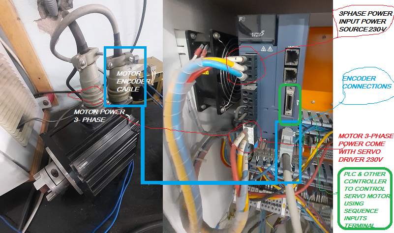 AC SERVO MOTOR WIRING WITH ALPHA-5 SMART SERVO DRIVE