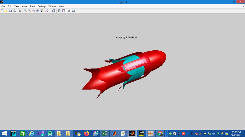 Matlab To Plot 3D Rocket